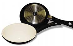 padella con manico in ceramica