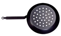 pentola padella in ferro traforata per castagne