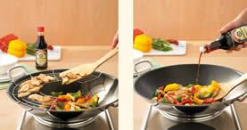 pentola wok esempio di ricette con grata